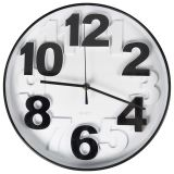 Gusta Clock 29.5x4 cm Black and White 04160460
