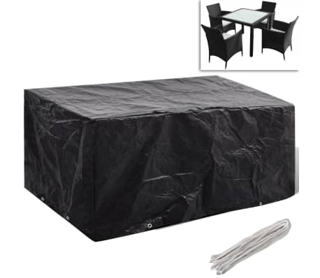 der regenschutz f r gartenm bel polyrattan f r 4 personen 8 sen 180 x 140 online shop. Black Bedroom Furniture Sets. Home Design Ideas