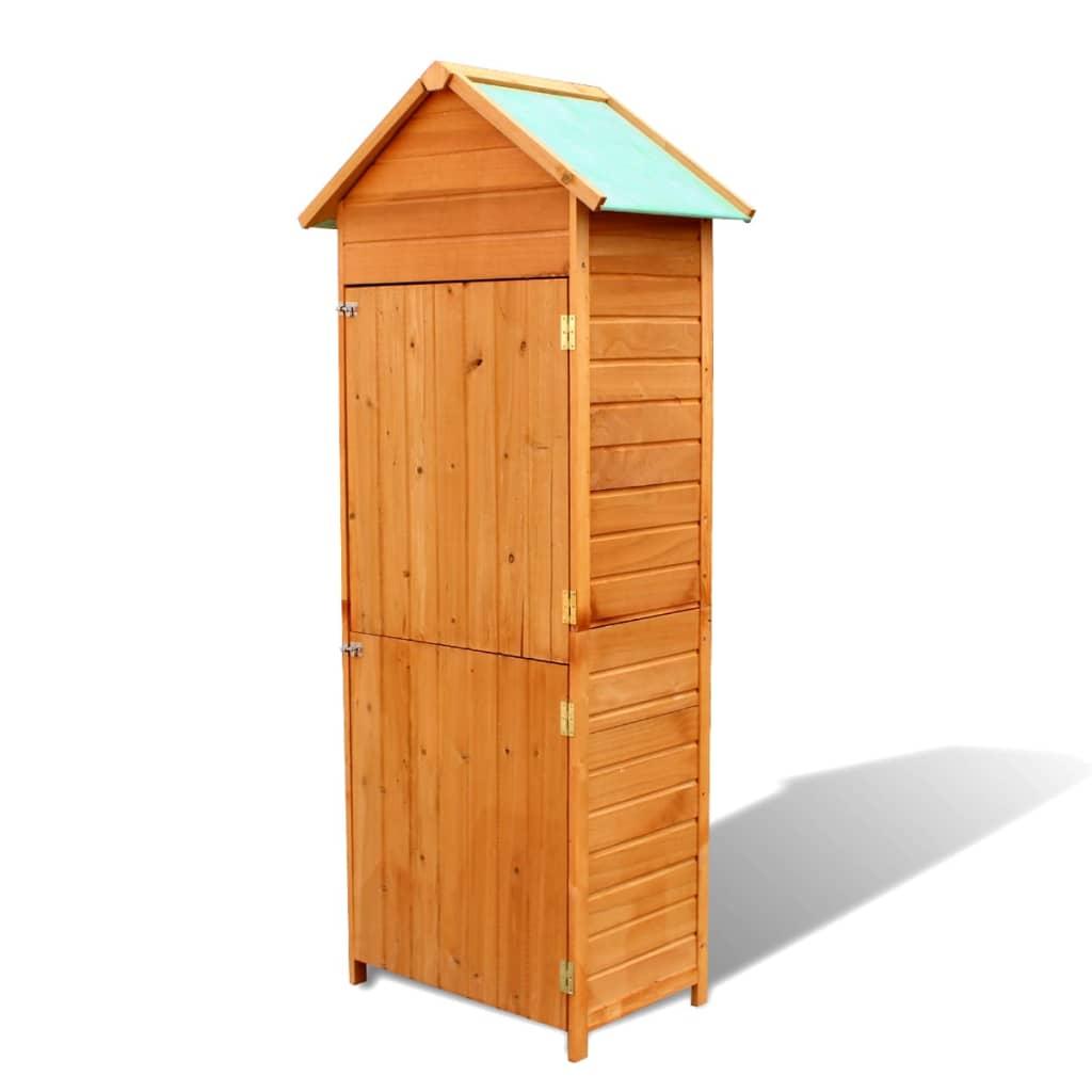 Acheter vidaxl abri de rangement pour jardin bois pas cher for Solde abri de jardin