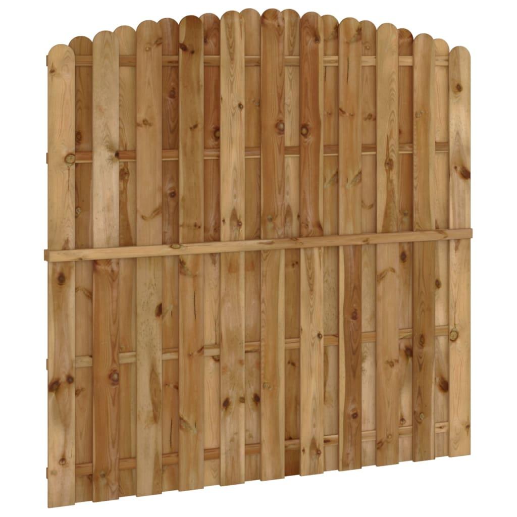Panel de ocultaci n vertical de madera modelo arqueado - Www wayook es panel ...