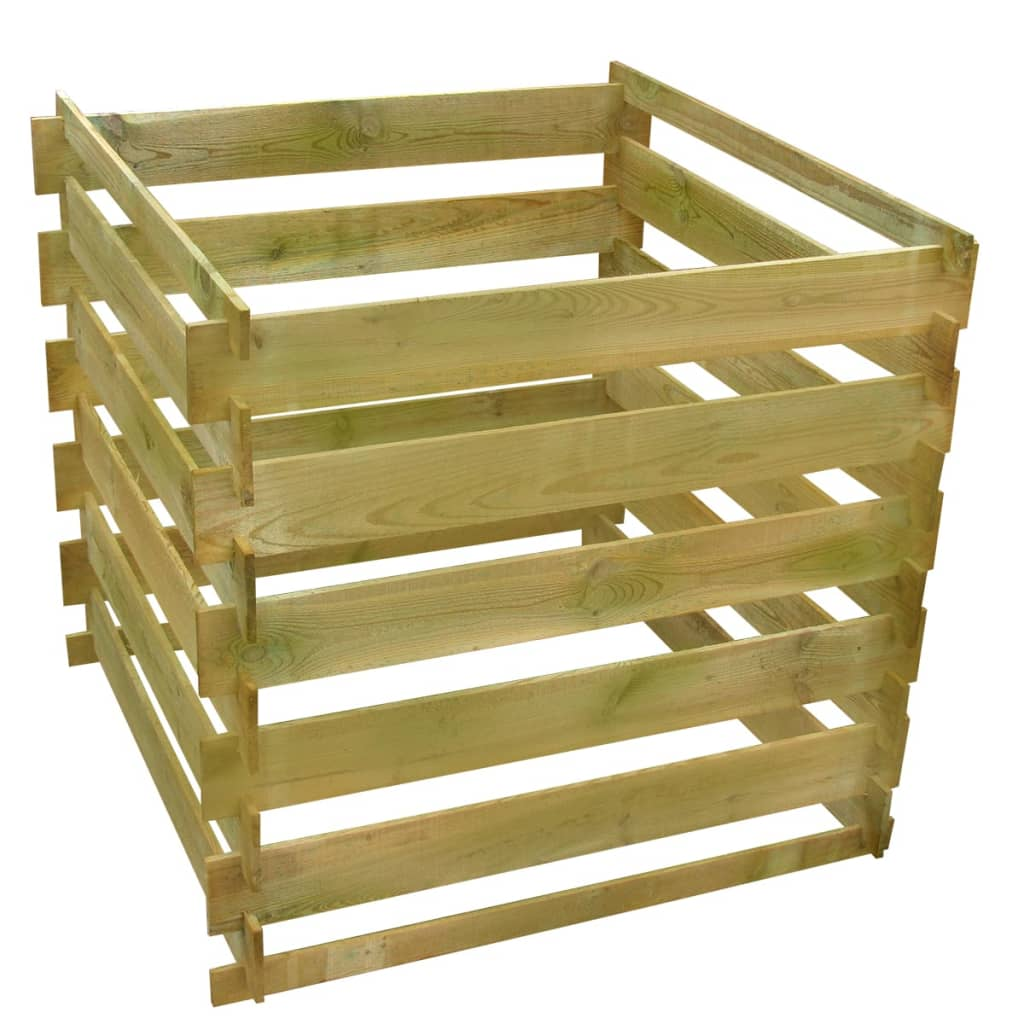 houten compostbak 0 54 m3 vierkant. Black Bedroom Furniture Sets. Home Design Ideas