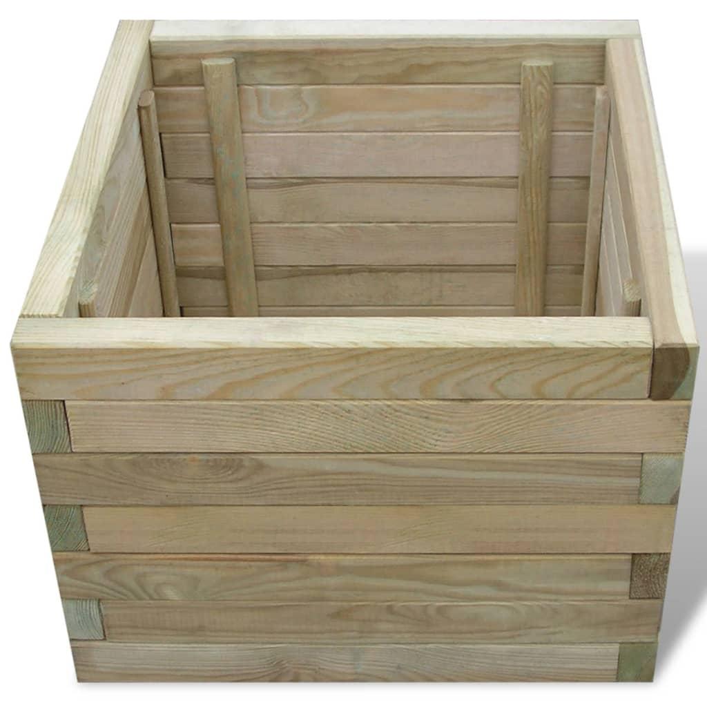 quadratischer blumenkasten aus holz 50 x 50 x 40 cm. Black Bedroom Furniture Sets. Home Design Ideas