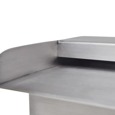 "Rectangular Waterfall Pool Fountain Stainless Steel 11.8""[6/6]"