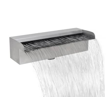 "Rectangular Waterfall Pool Fountain Stainless Steel 11.8"""