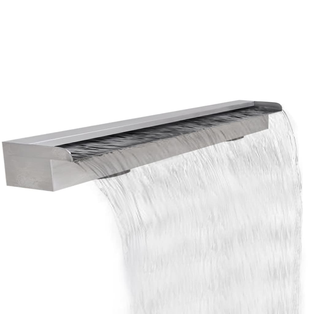rechteckige wasserfall pool font ne edelstahl 120 cm g nstig kaufen. Black Bedroom Furniture Sets. Home Design Ideas
