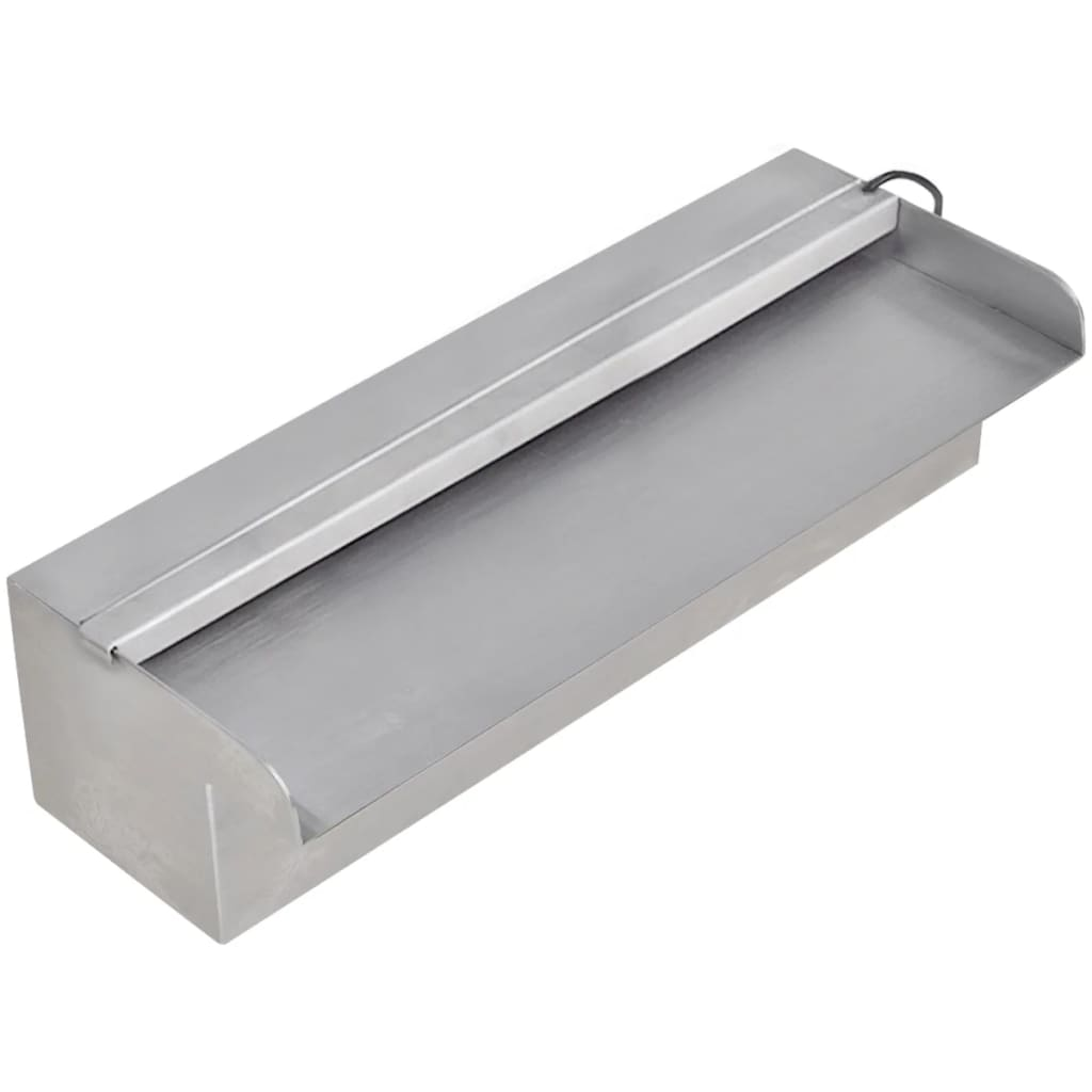 fuente rectangular con leds para piscina acero inoxidable