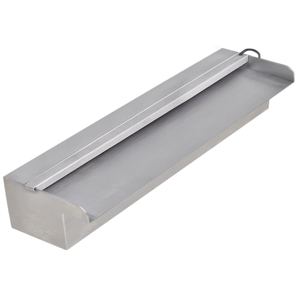 fuente cascada rectangular led para piscina acero