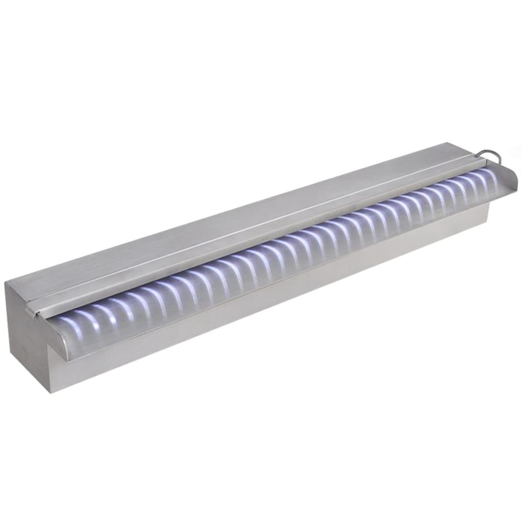 Acheter lame d 39 eau rectangulaire led 60 cm en acier for Piscine acier rectangulaire pas cher