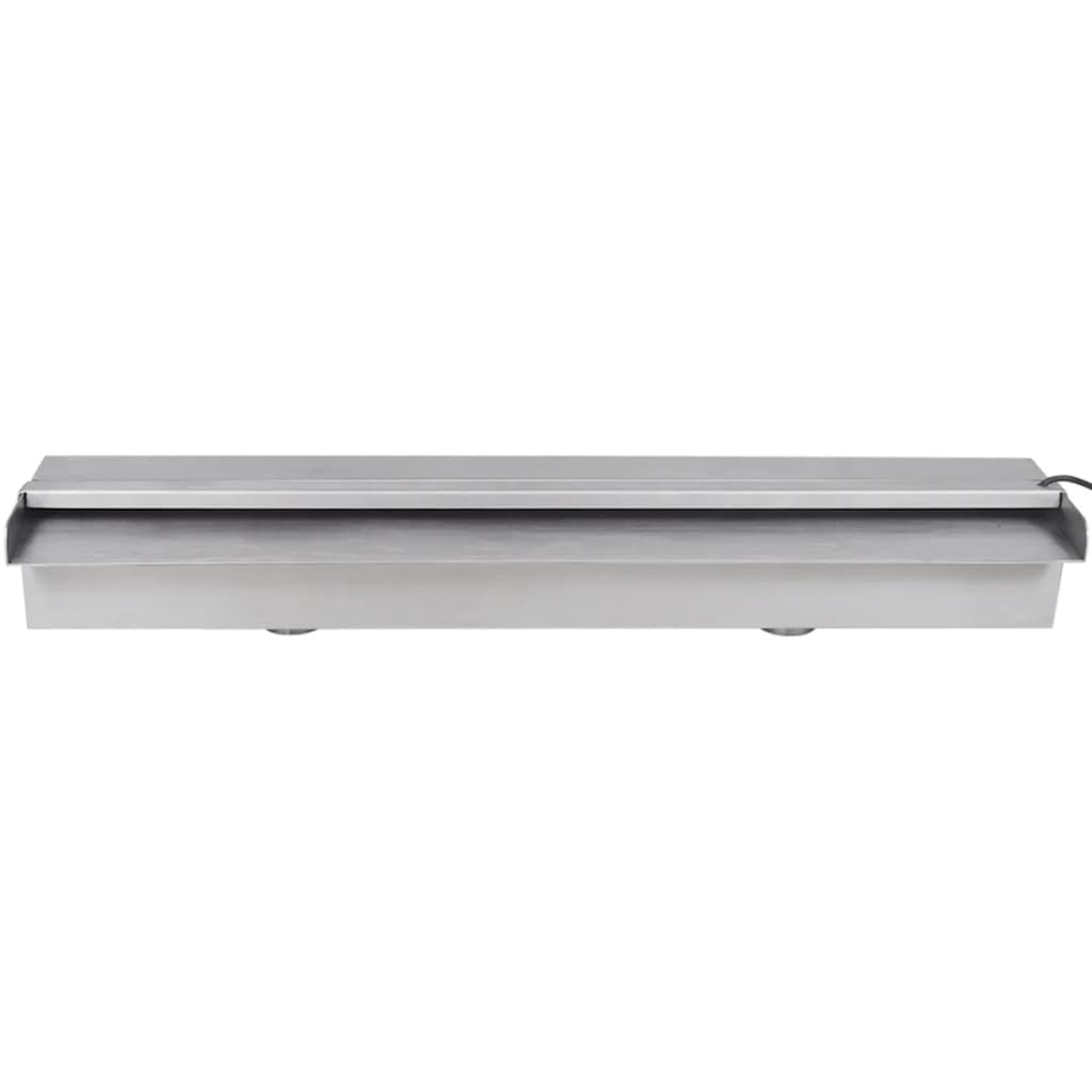 La boutique en ligne lame d 39 eau rectangulaire led 60 cm for Solde piscine acier