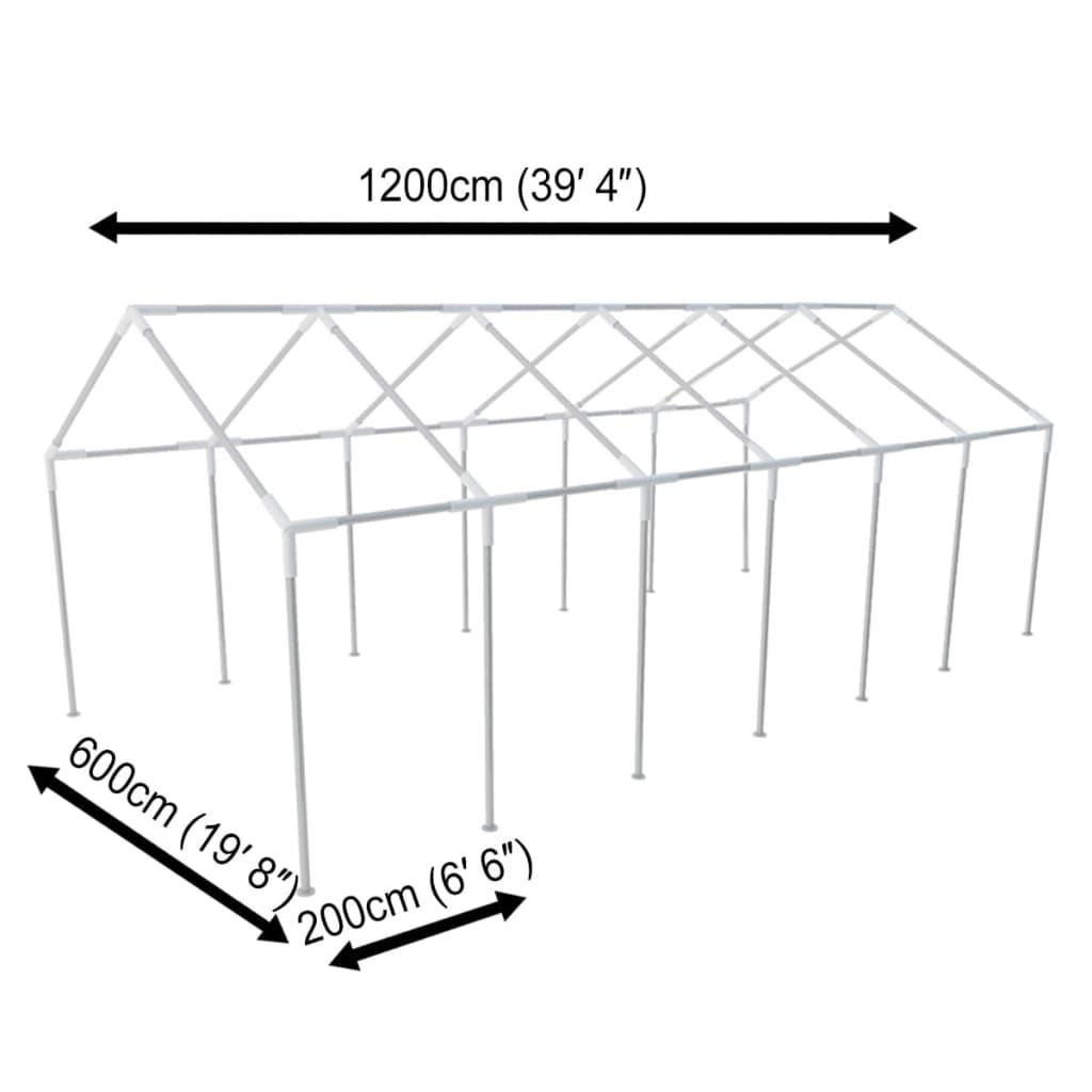 Estructura de toldo de aceros para eventos 12 x 6 cm for Estructuras para toldos