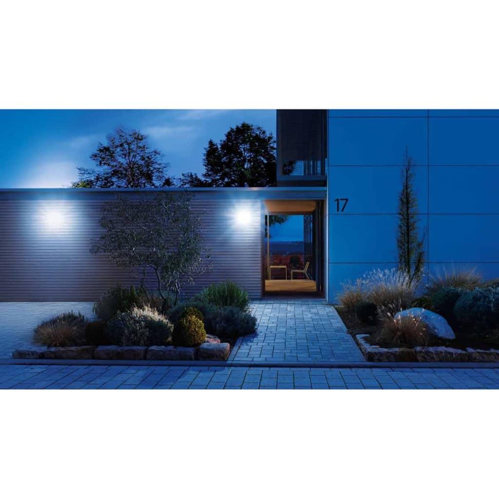 steinel sensor floodlight xled home 2 silver 033057. Black Bedroom Furniture Sets. Home Design Ideas