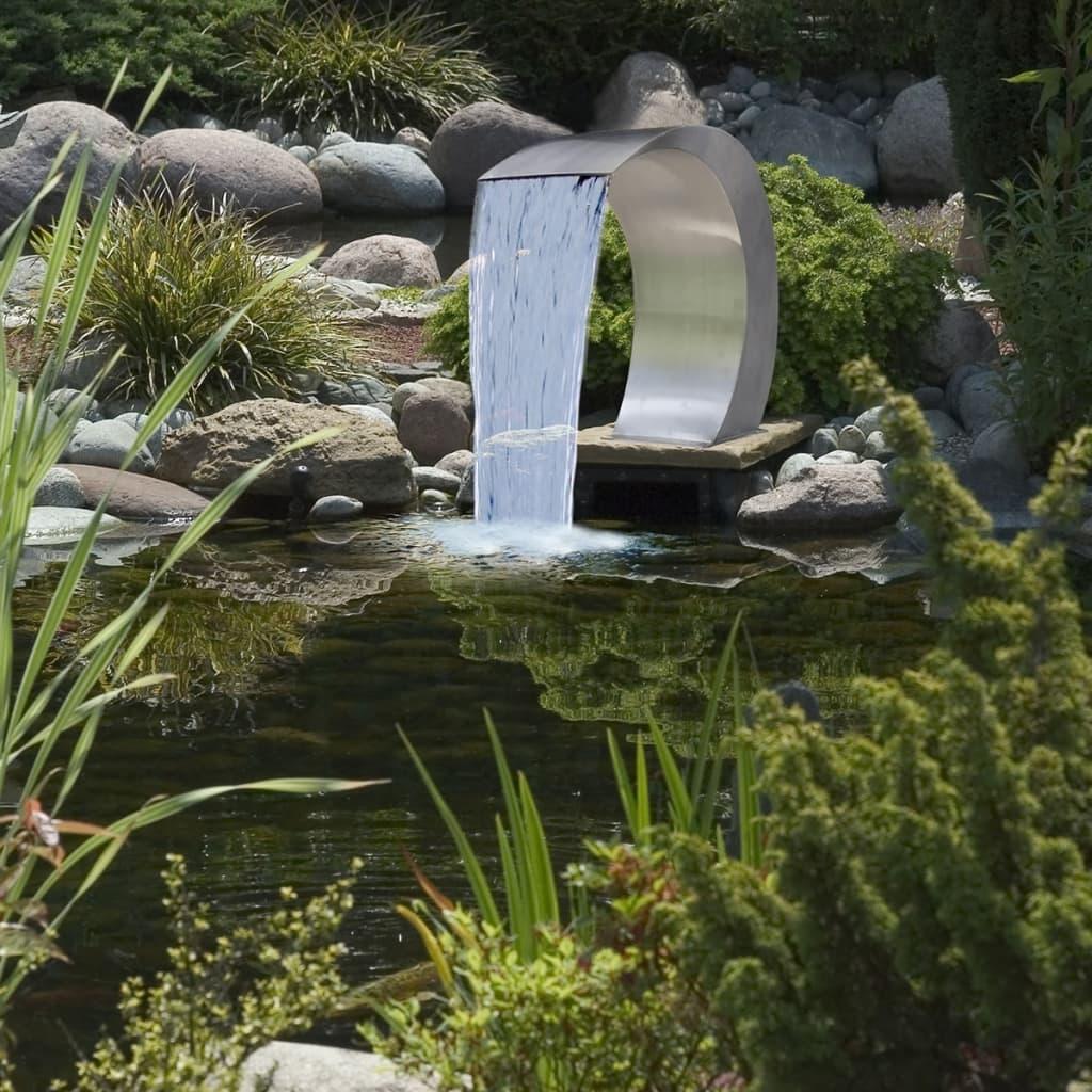 waterval fontein voor het zwembad rvs 45 x 30 x 60 cm. Black Bedroom Furniture Sets. Home Design Ideas