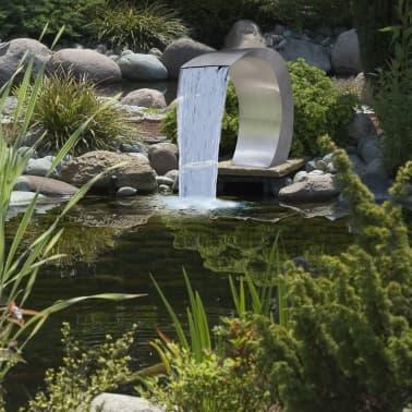 "Garden Waterfall Pool Fountain Stainless Steel 17.7"" x 11.8"" x 23.6""[5/7]"