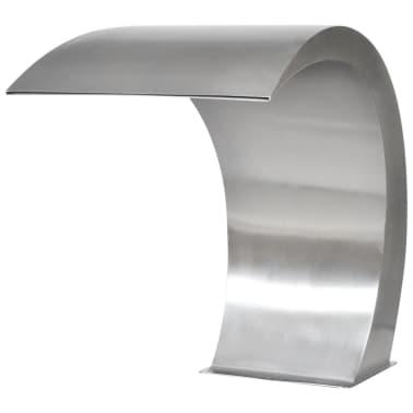 "Garden Waterfall Pool Fountain Stainless Steel 17.7"" x 11.8"" x 23.6""[3/7]"