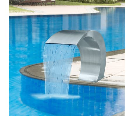 "Garden Waterfall Pool Fountain Stainless Steel 17.7"" x 11.8"" x 23.6"""