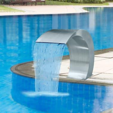 "Garden Waterfall Pool Fountain Stainless Steel 17.7"" x 11.8"" x 23.6""[1/7]"