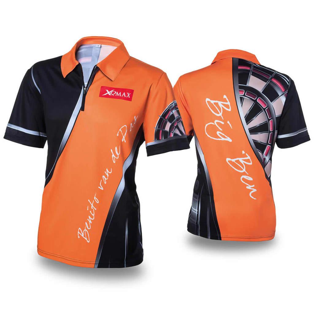 XQmax Darts BvdP Replikat Matchshirt T-Shirt Sportshirt Orange Gr. S QD9200220
