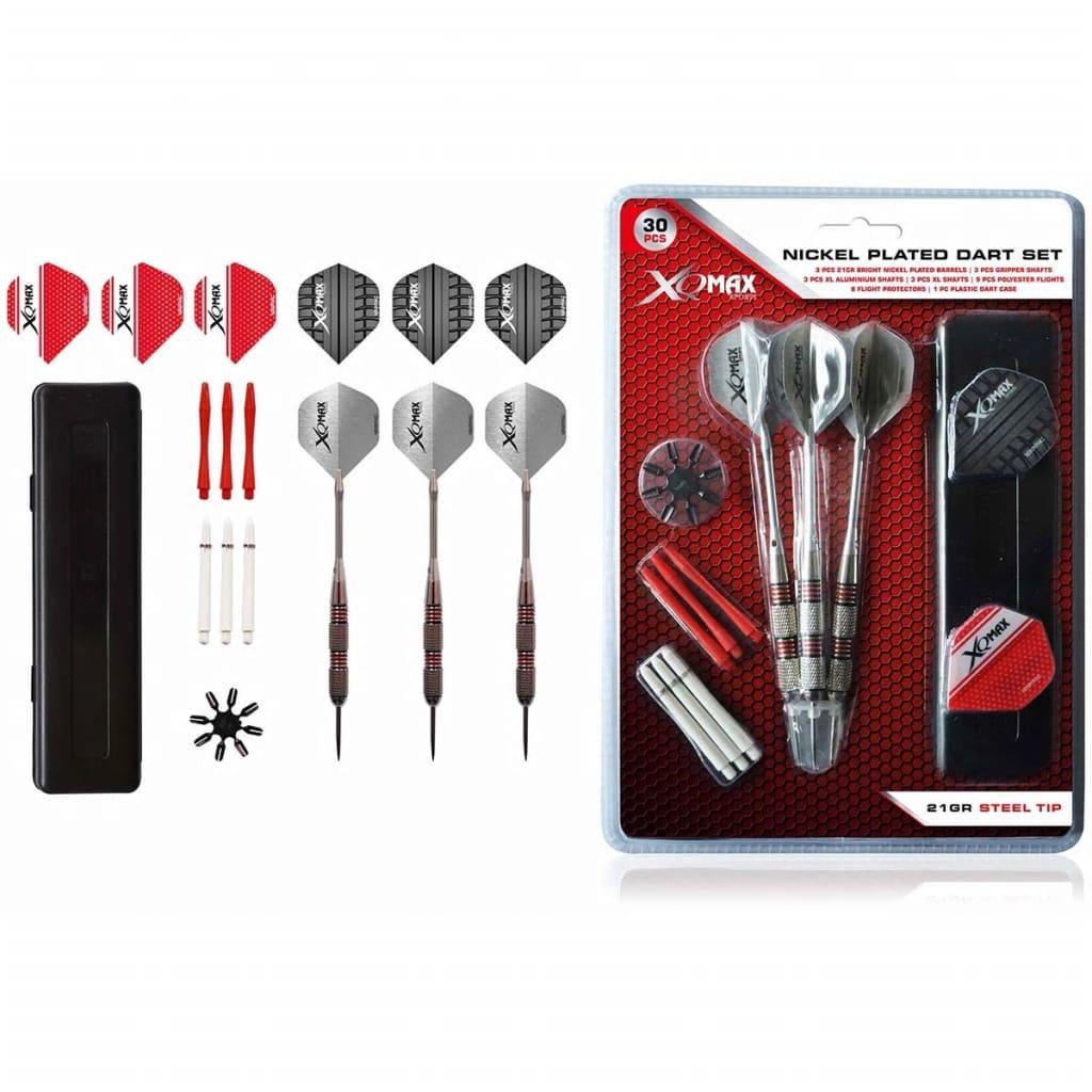 acheter xqmax darts jeu de 30 fl chettes nickel es pointe. Black Bedroom Furniture Sets. Home Design Ideas
