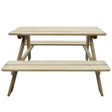 Kinder Picknicktisch 89 x 89,6 x 50,8 cm Holz[2/3]