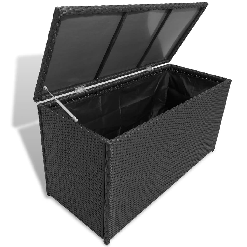 poly rattan garden storage chest waterproof. Black Bedroom Furniture Sets. Home Design Ideas