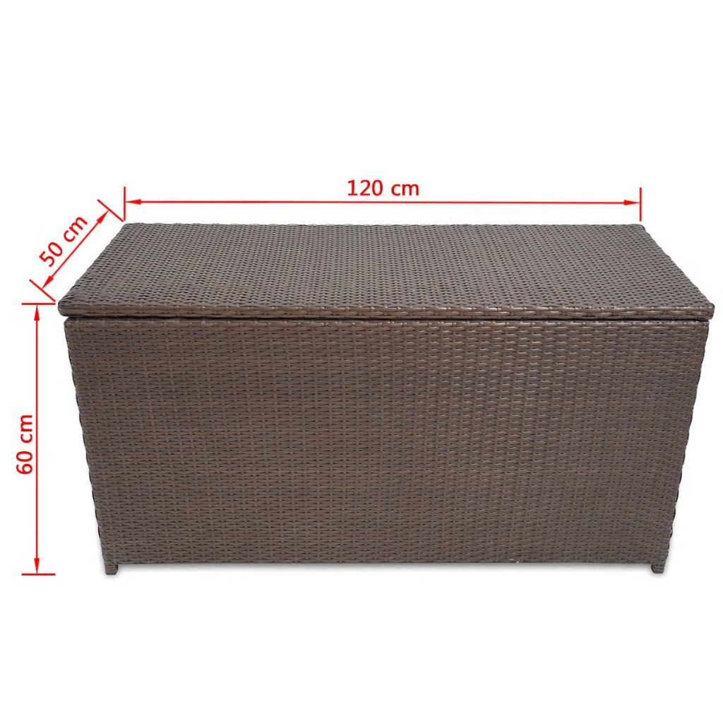 poly rattan truhe aufbewahrungsbox wasserfest braun g nstig kaufen. Black Bedroom Furniture Sets. Home Design Ideas