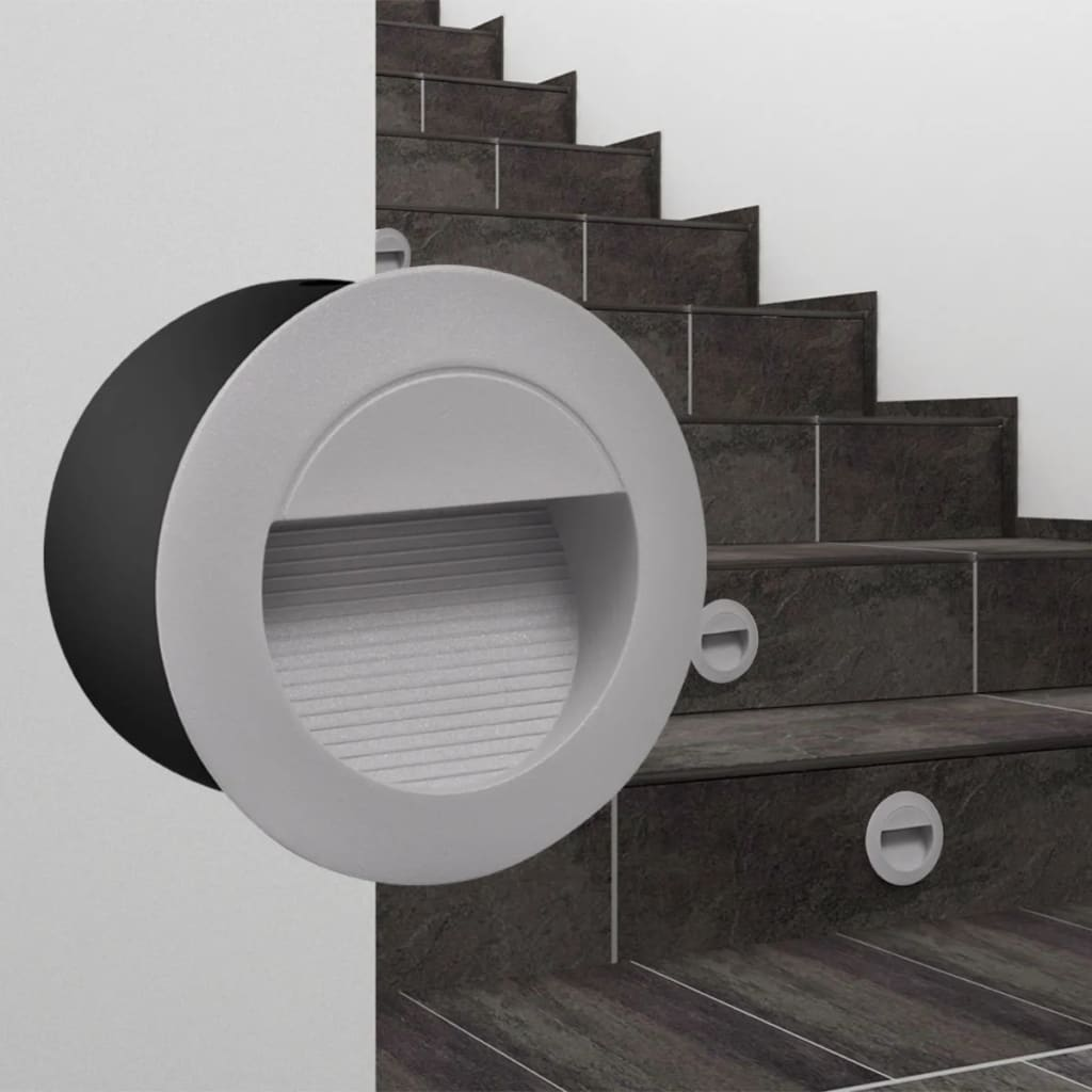 acheter 2 luminaires led ronds encastr s pour escalier 126 mm pas cher. Black Bedroom Furniture Sets. Home Design Ideas