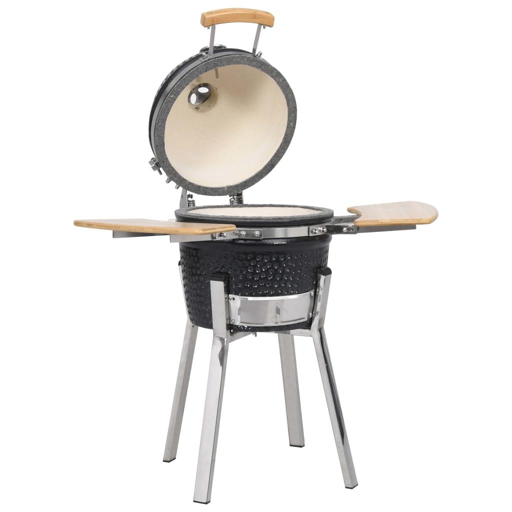 vidaXL Kamado Barbecue kerámia grill füstölő 81 cm