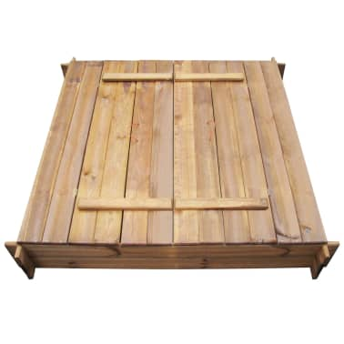 Square Impregnated Wooden Sandbox[3/6]