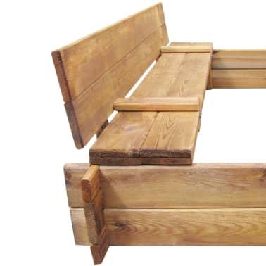 Square Impregnated Wooden Sandbox[6/6]