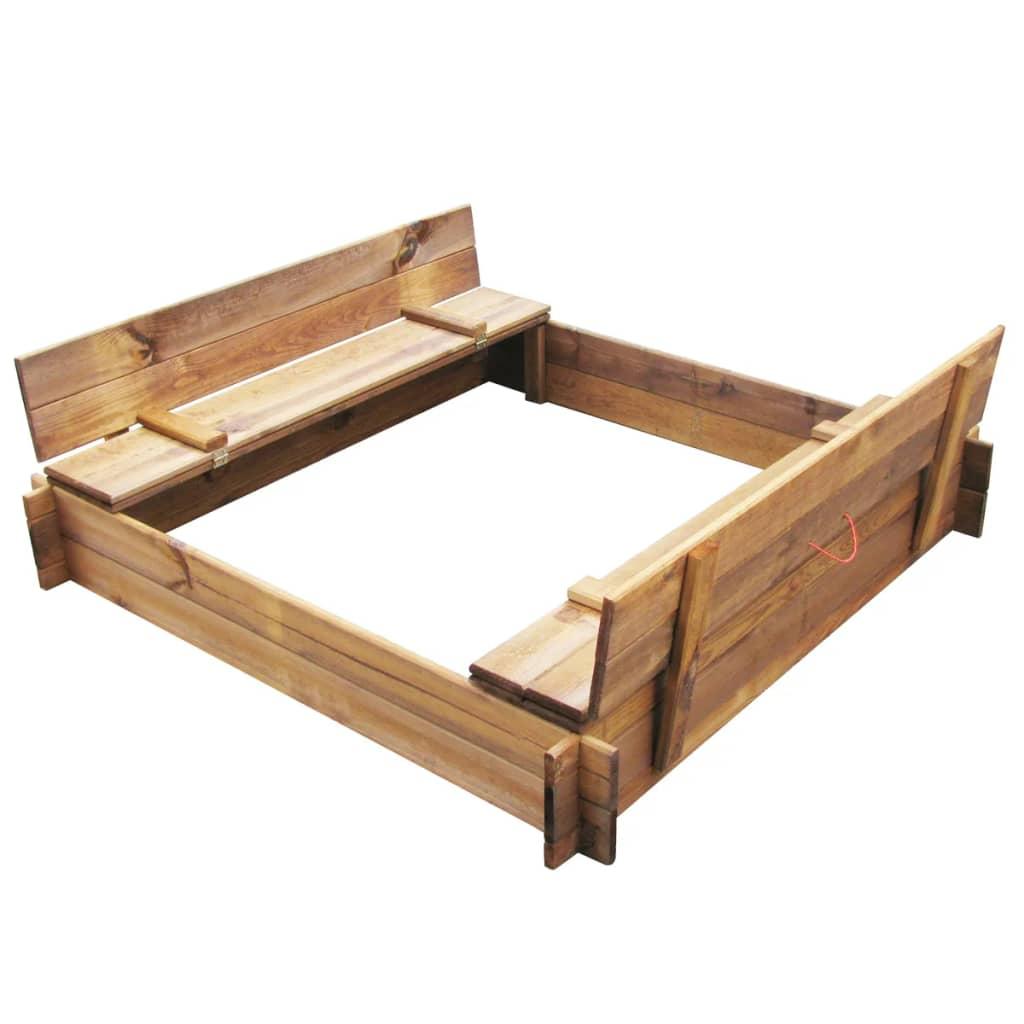la boutique en ligne bac sable carr en bois impr gn. Black Bedroom Furniture Sets. Home Design Ideas