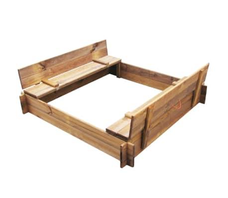 Square Impregnated Wooden Sandbox