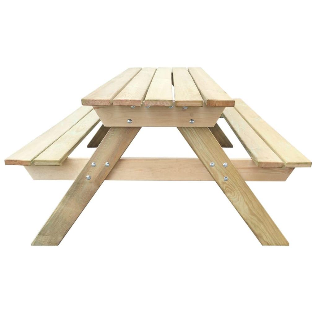 Mesa de picnic hecha de madera 150 x 135 x 71 5 cm tienda for Mesa de picnic madera