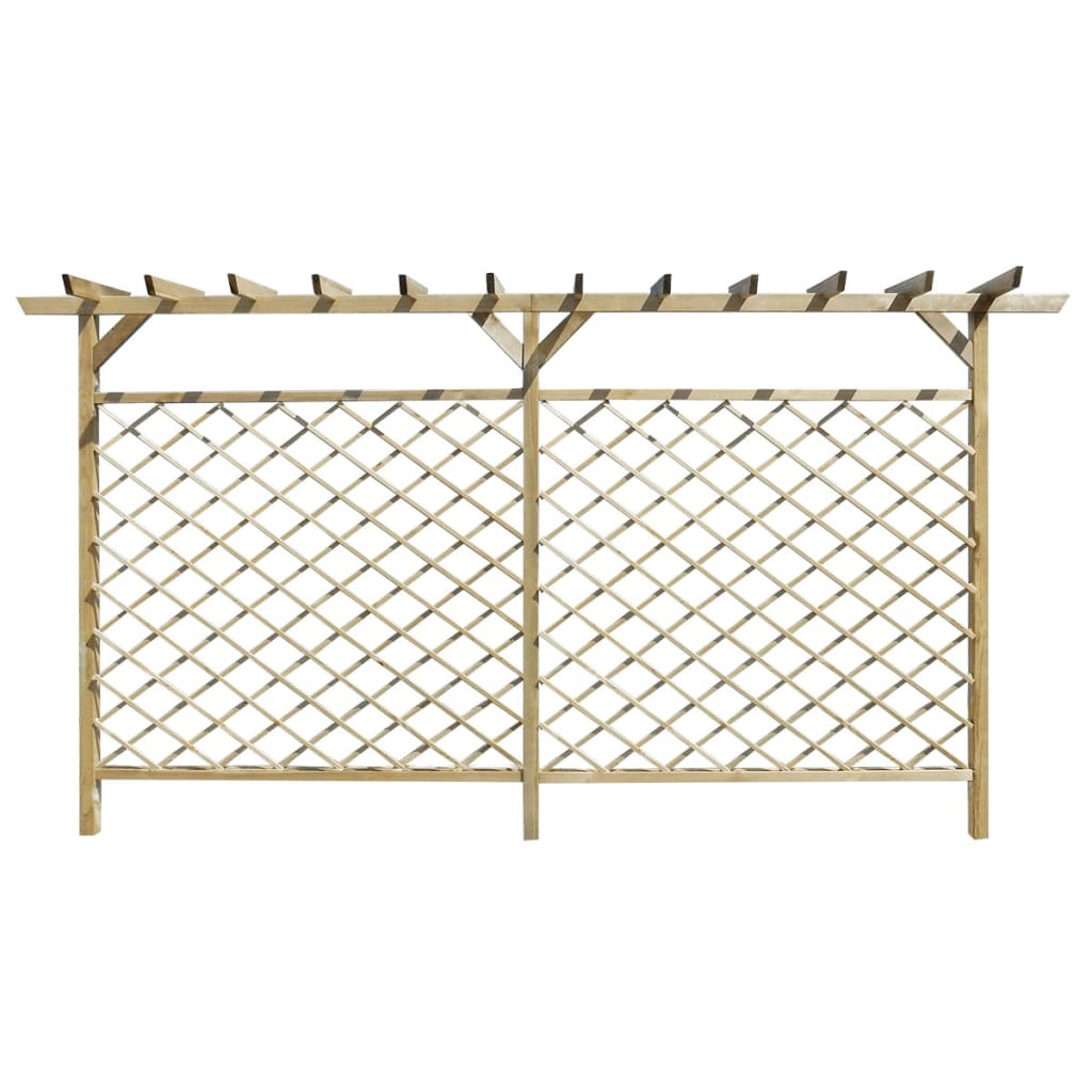 garden lattice fence with pergola top. Black Bedroom Furniture Sets. Home Design Ideas