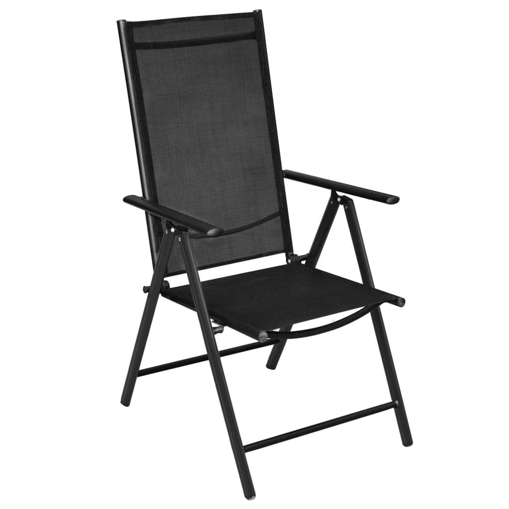 Vidaxl sillas de exterior 4 piezas aluminio 54x73x107 cm for Sillas para exterior