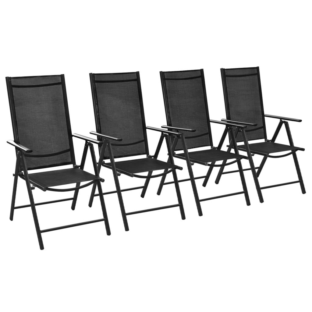 Vidaxl set sedie da esterno in alluminio 54x73x107 cm 4 pz - Sedie da esterno ...