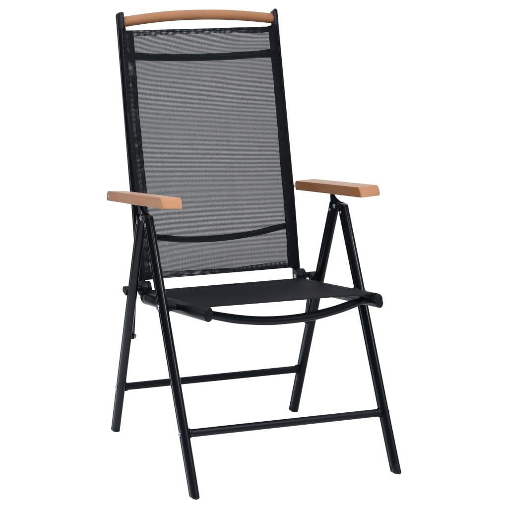 Vidaxl sillas plegables de jard n aluminio 2 uds for Sillas de jardin plegables