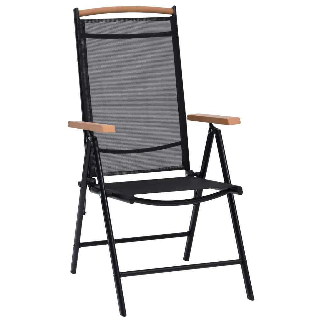 Vidaxl sillas plegables de jard n aluminio 2 uds - Sillas plegables jardin ...