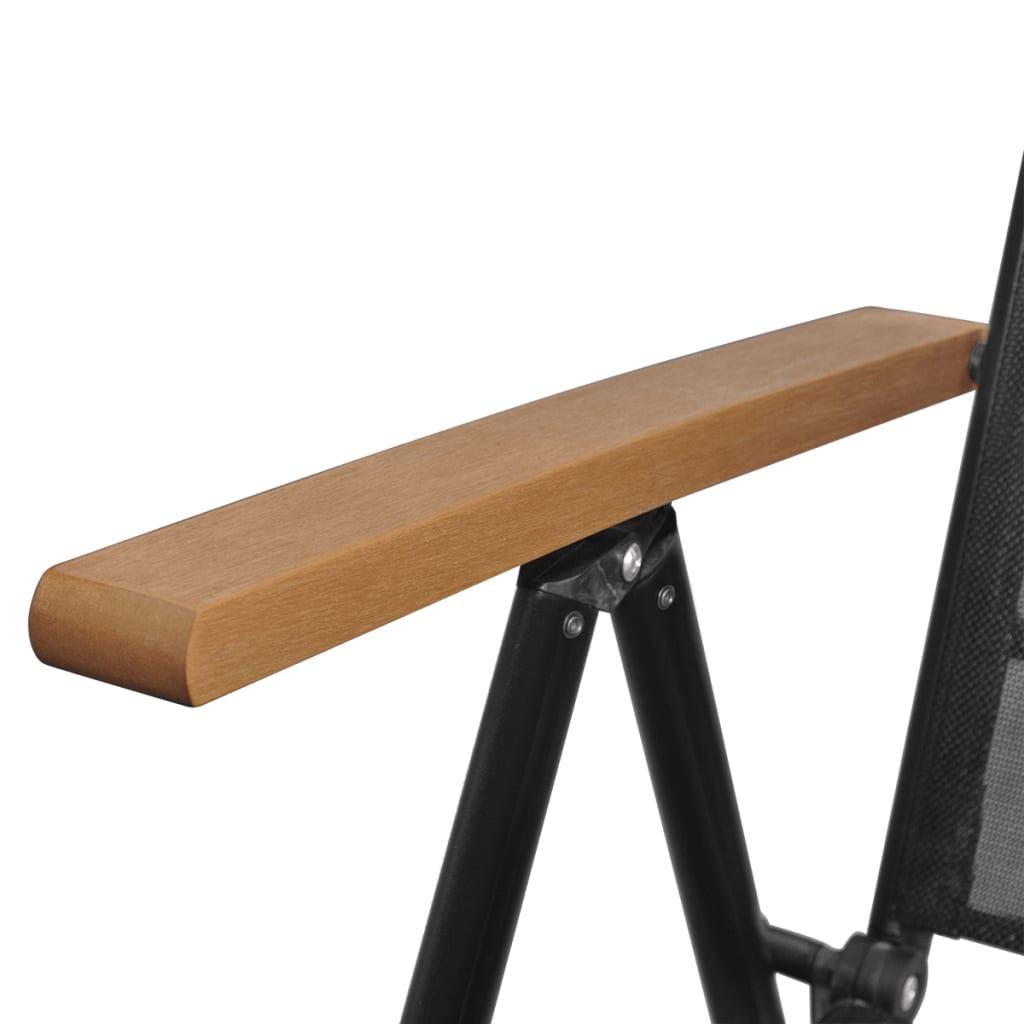 Acheter vidaxl chaises pliables de jardin 58x65x109 cm 4 for Chaises pliables