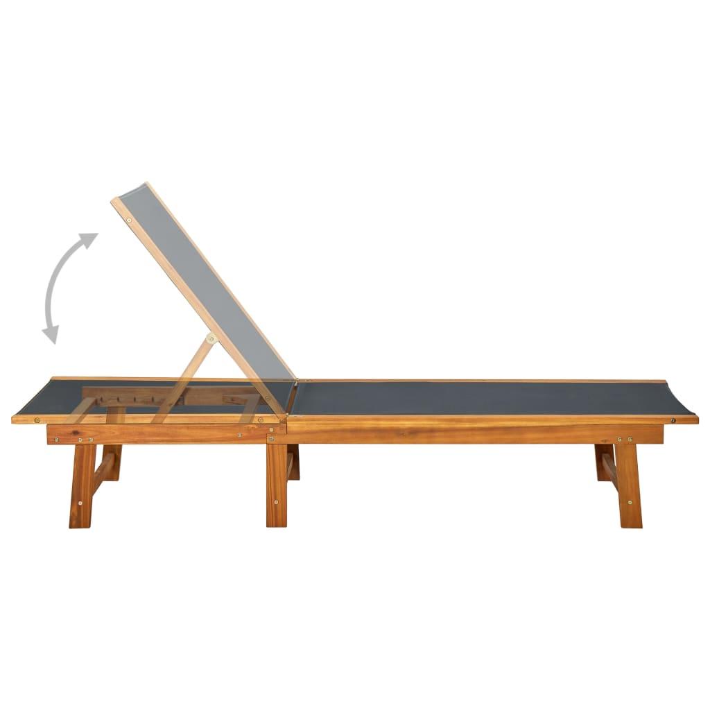 Acheter vidaxl chaise longue en bois d 39 acacia pas cher for Chaises longues en solde