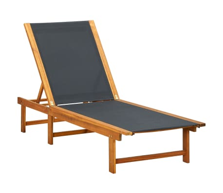 Outdoor Sun Lounger Chaise Garden Chair Patio Recliner Pool Furniture Wood Bed  sc 1 st  eBay : wooden reclining garden chairs - islam-shia.org