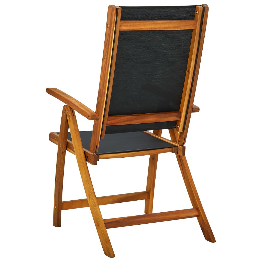Vidaxl sillas plegables de madera de acacia negras 2 for Sillas negras de madera