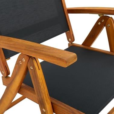... VidaXL Seven Piece Folding Outdoor Dining Set Acacia Wood[6/9] ...