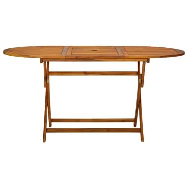 vidaXL Seven Piece Folding Outdoor Dining Set Acacia Wood[7/9]