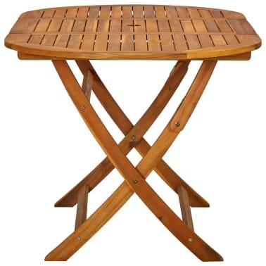 vidaXL Seven Piece Folding Outdoor Dining Set Acacia Wood[8/9]