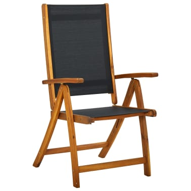 vidaXL Seven Piece Folding Outdoor Dining Set Acacia Wood[2/7]