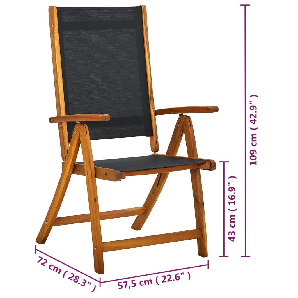 vidaxl 7 tlg gartenm bel set essgruppe faltbar akazienholz g nstig kaufen. Black Bedroom Furniture Sets. Home Design Ideas