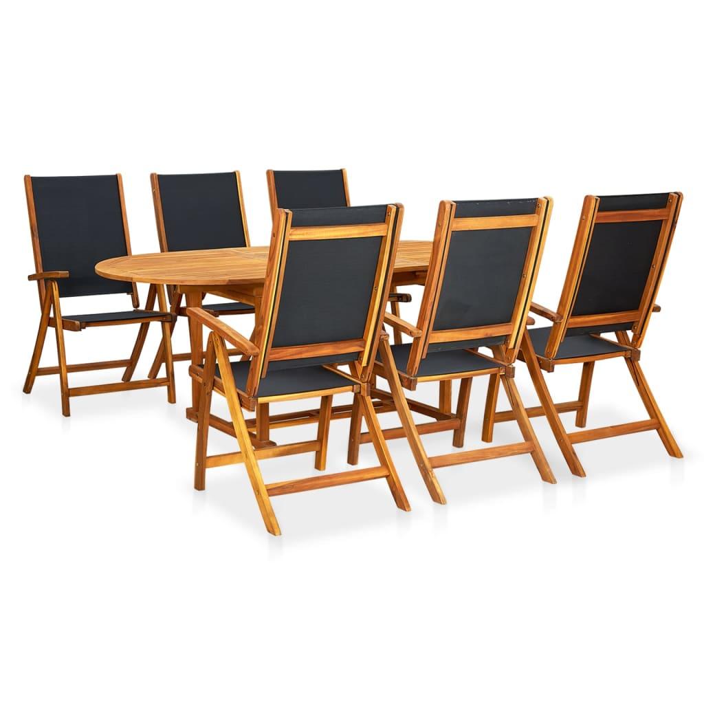 Acheter vidaxl jeu de mobilier de salle manger pliable 7 for Mobilier salle manger