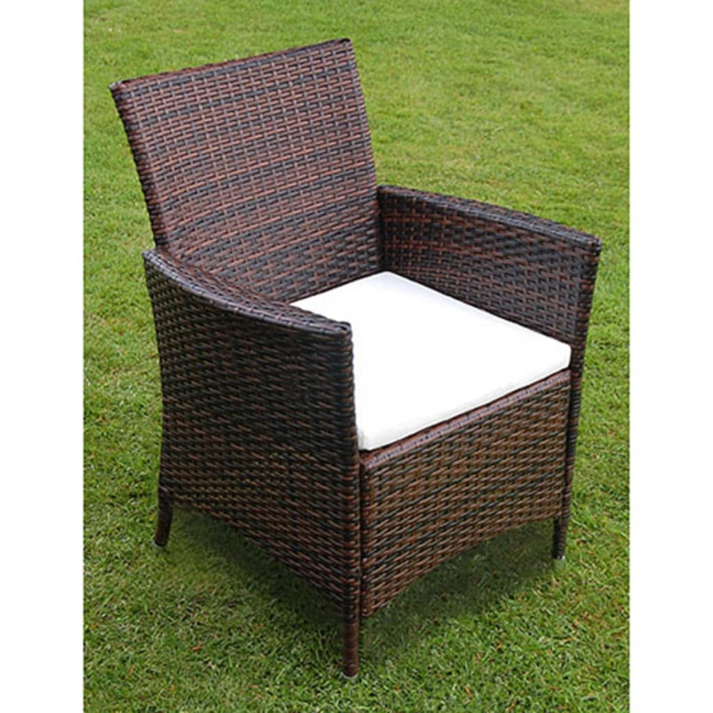 vidaxl 13 tlg gartenm bel set braun poly rattan g nstig. Black Bedroom Furniture Sets. Home Design Ideas