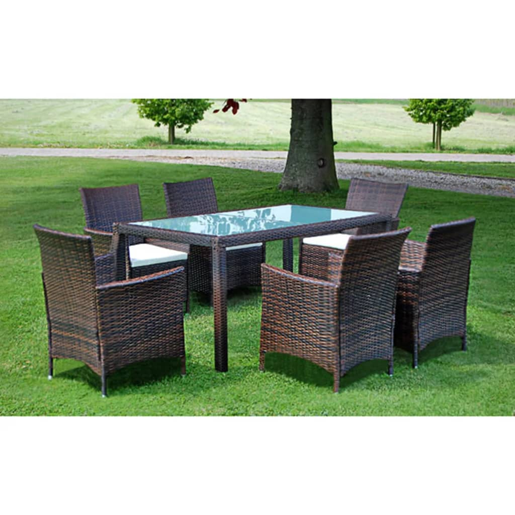 der vidaxl 13 tlg gartenm bel set braun poly rattan. Black Bedroom Furniture Sets. Home Design Ideas