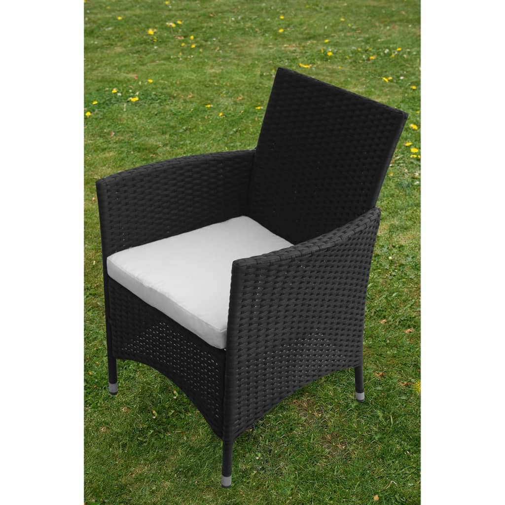 vidaxl 9 tlg gartenm bel set schwarz poly rattan g nstig. Black Bedroom Furniture Sets. Home Design Ideas